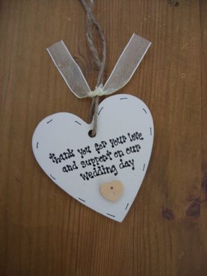 Shabby personalised Gift Tag Chic Wedding Present Gift.. Thank you.. Double side